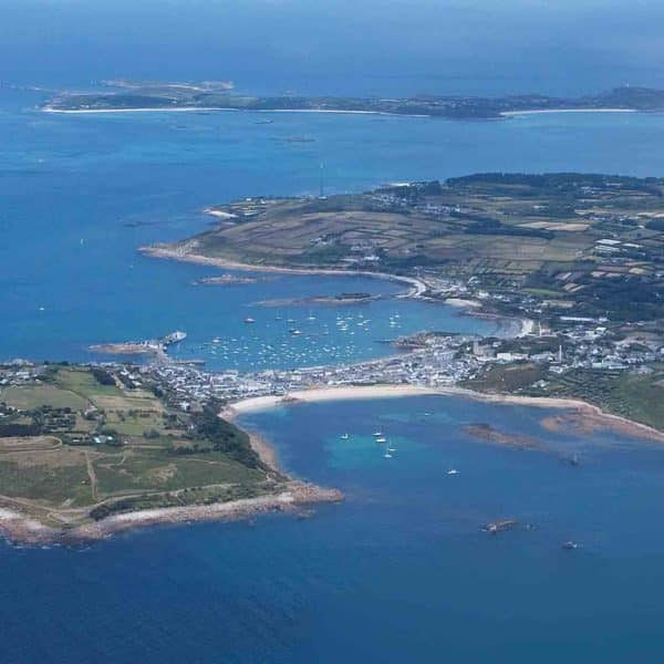 Aerial view of the Isles of Scilly