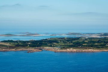 Isles of Scilly from the air