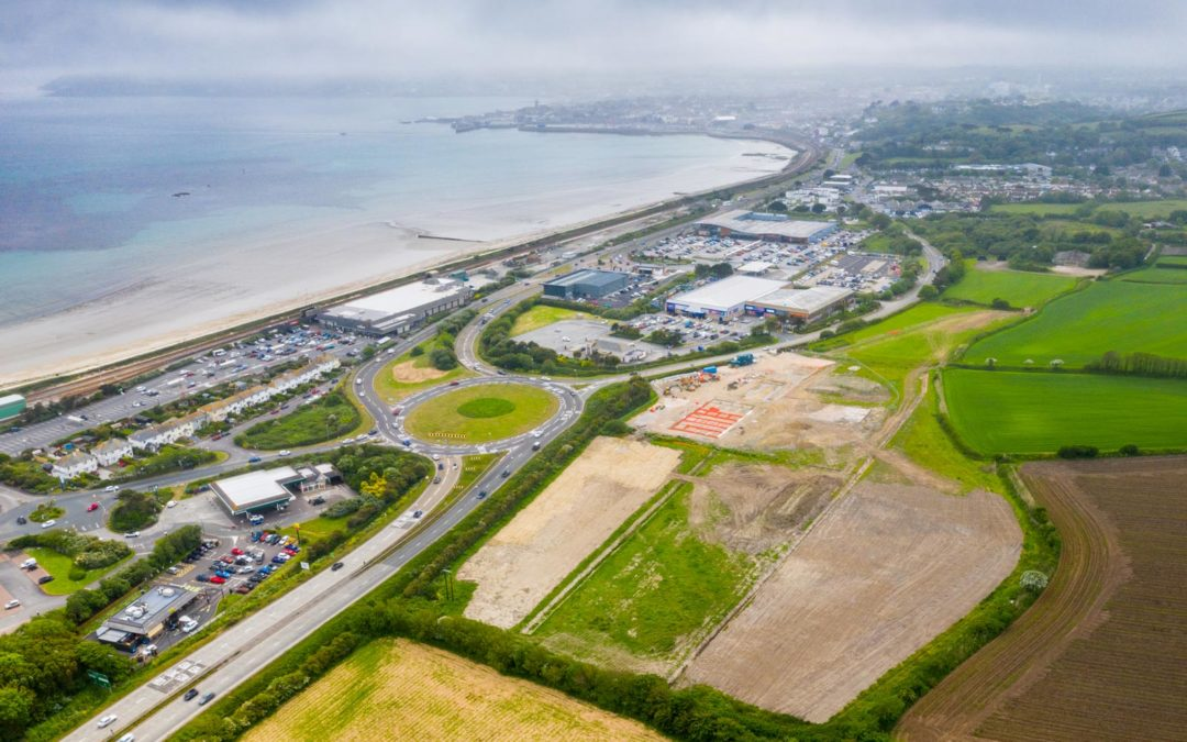 Stunning aerial image shows Penzance Heliport construction progress